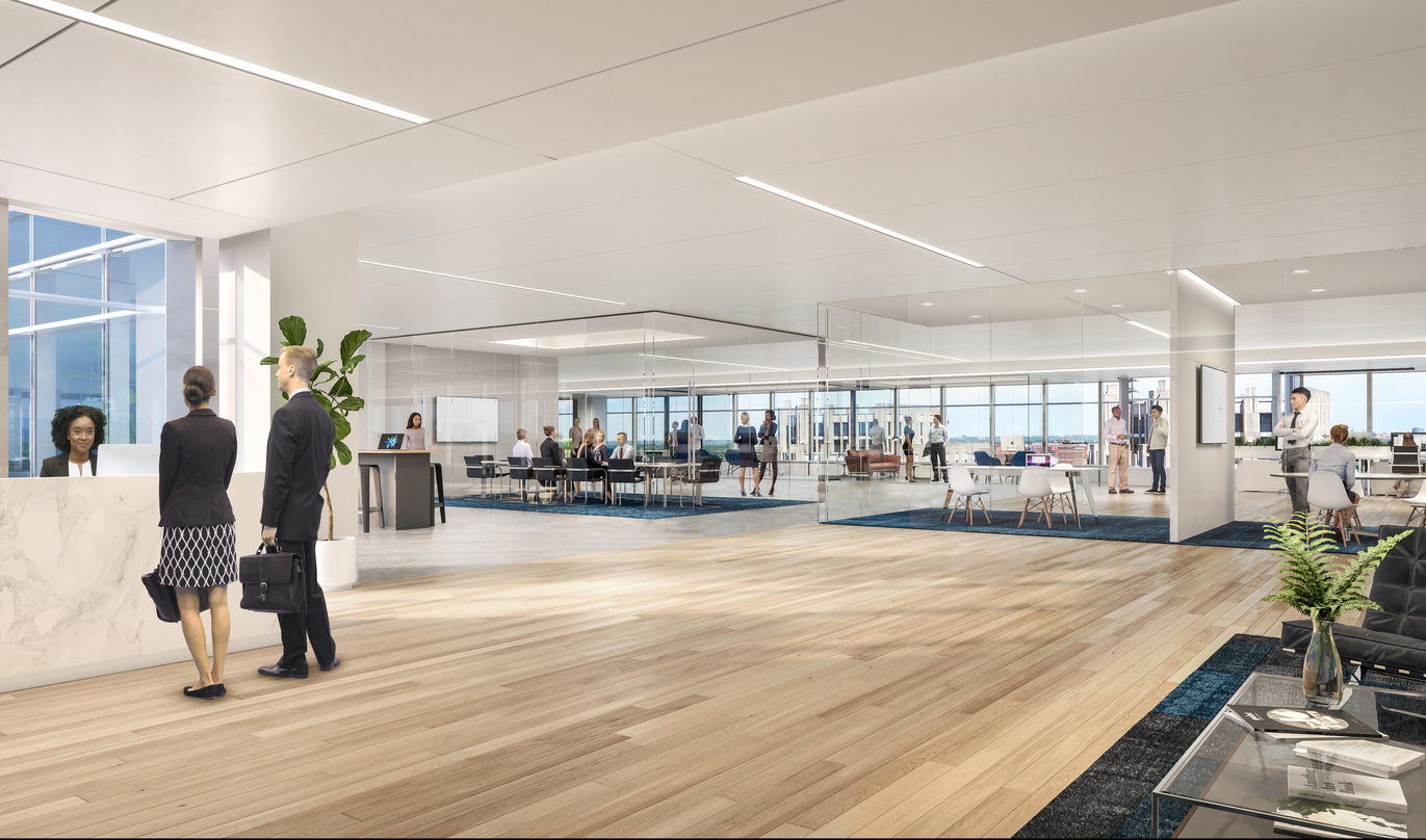 Wooden floors and aesthetically designed roof incorporated into the proposal for Avocet Tower.