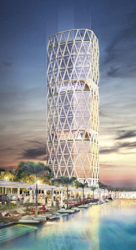 Architectural Design of large mixed used development of 45 story tower- Miami World Center