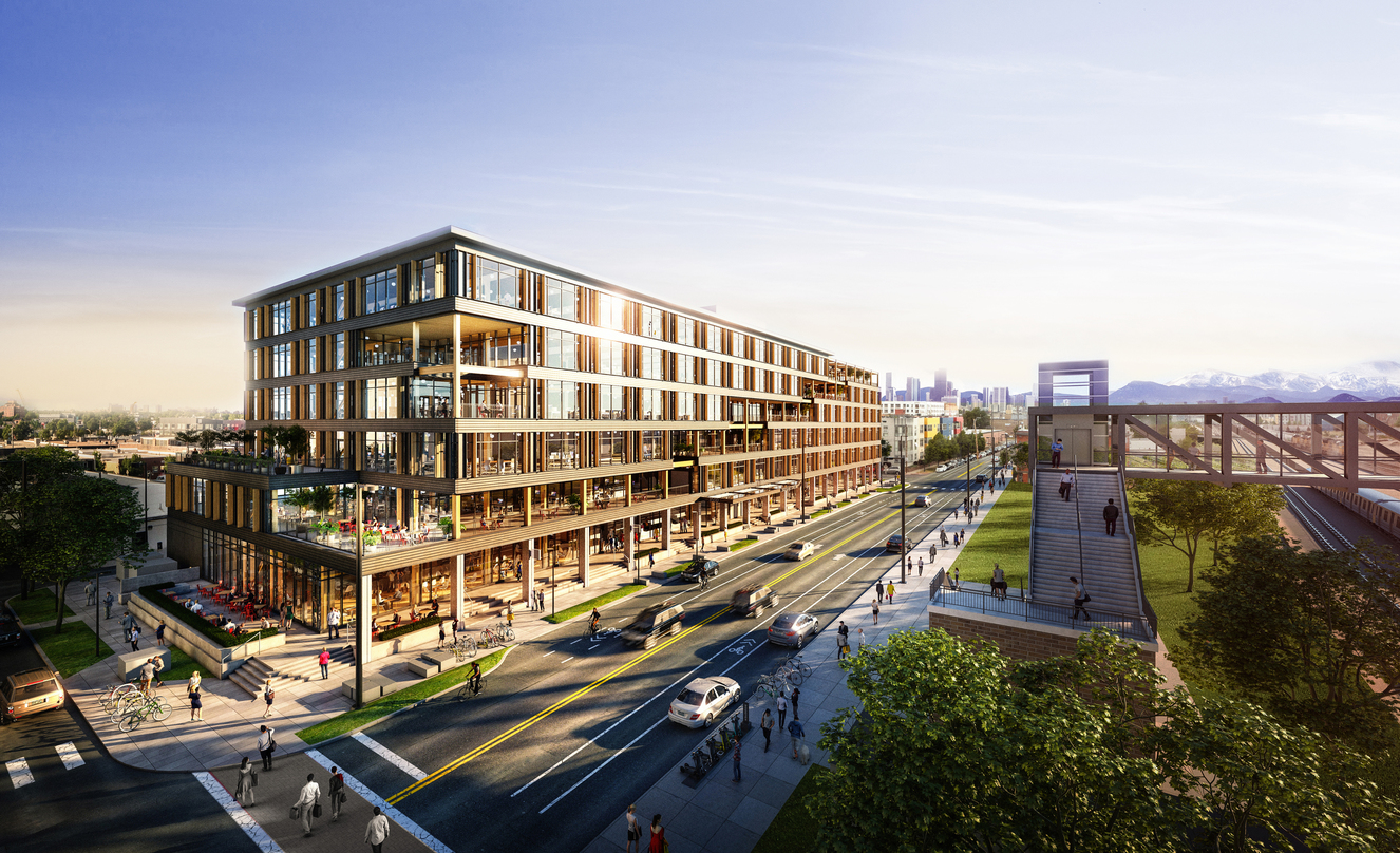 Design proposal for a six-story heavy timber office building in Denver, Colorado with a variety of amenity spaces and an exclusive deck.