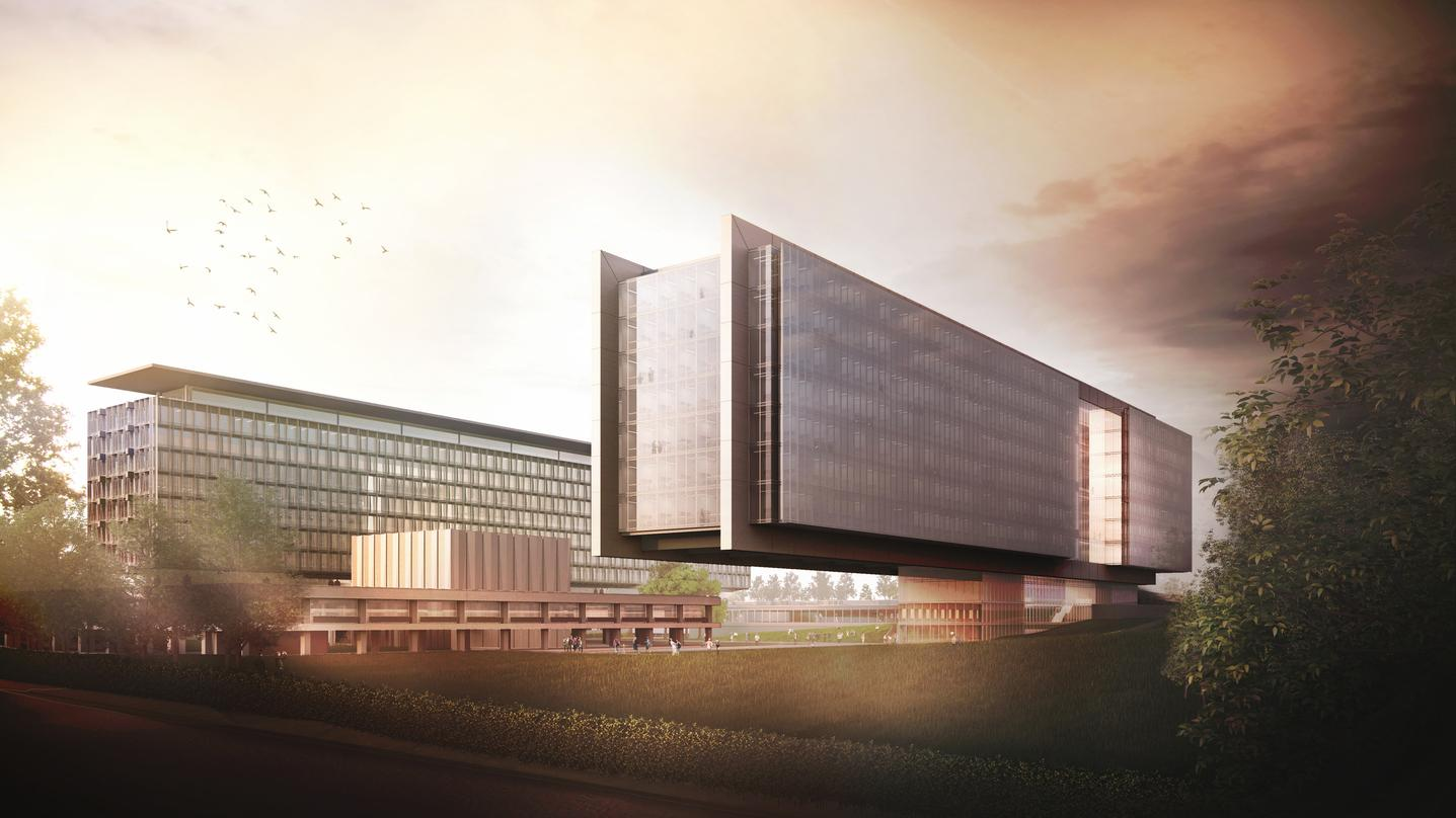 State of the art design incorporated into our proposal for the World Health Organization (WHO) Headquarters Building Extension.