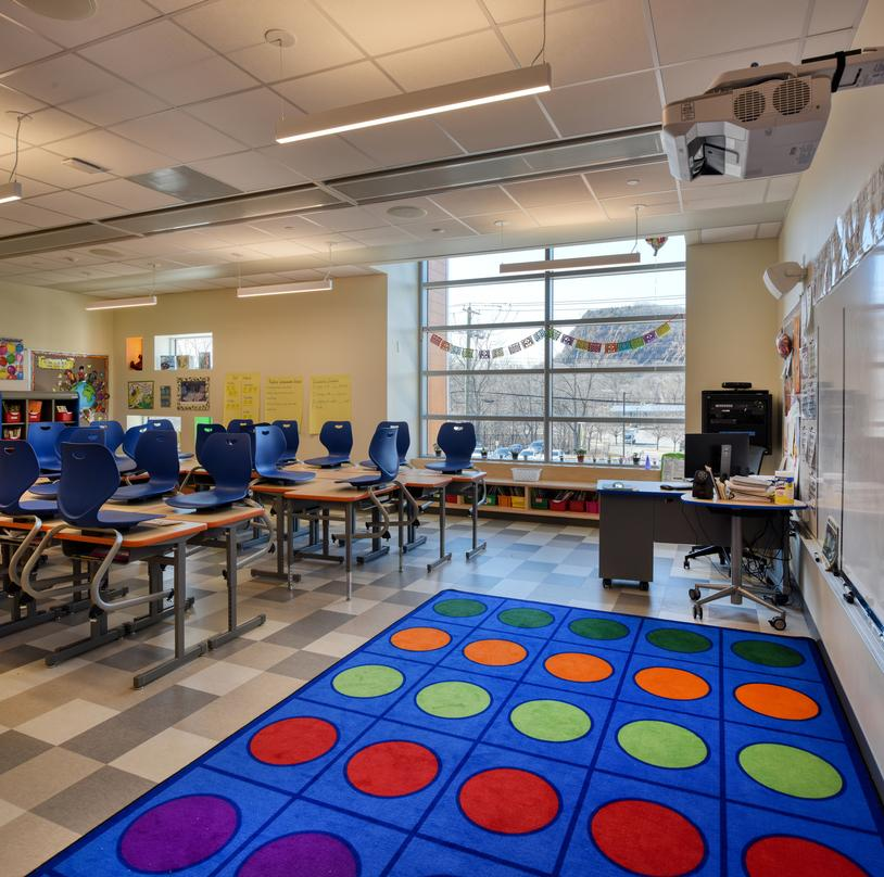 Next generation classroom at Barack H. Obama Magnet University school in New Haven, Connecticut.