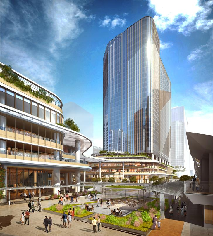 The Courtyard design incorporated into the design proposal for Global Gateway Shinagawa project.