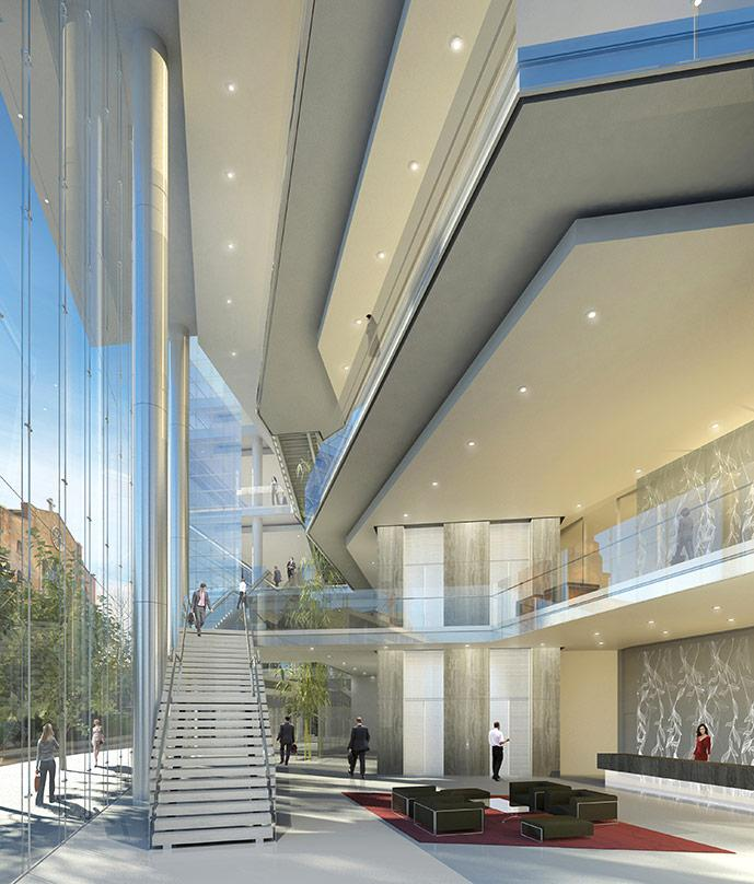 Design proposal for interior works of the BankMed Headquarters II, located in Beirut, Lebanon.