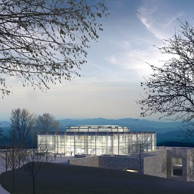 Design proposal for the Case Library and Center for Information Technology located in Hamilton, New York.
