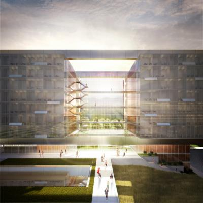 Design proposal for the World Health Organization (WHO) Headquarters Building Extension.