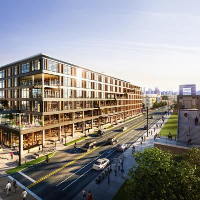 Design proposal for a six-story mass timber office building in Denver, Colorado with a variety of amenity spaces and an exclusive deck.